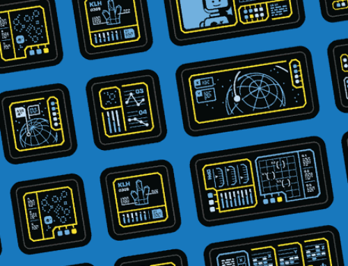 Neo-Classic Space Computer Stickers